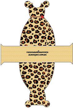 Cajitas Imprimibles piel de leopardo.