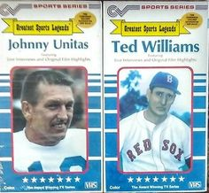 Greatest Sports Legends VHS. Johnny Unitas and Ted Williams. See Now on EBAY. Like New Condition. $9.99 CV Sports Series
