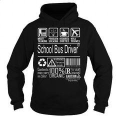 School Bus Driver Job Title - Multitasking - #dress shirts #silk shirts. CHECK PRICE => https://www.sunfrog.com/Jobs/School-Bus-Driver-Job-Title--Multitasking-Black-Hoodie.html?60505