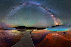 Image Of The Day - Incredible View Of The Milky Way Over Yellowstone - MessageToEagle.com