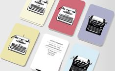 Vintage Typewriters #moocard #businesscard