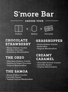 Give me S'more! Give me S'more! FREE Printable S'more Menu! // shoptippi.com
