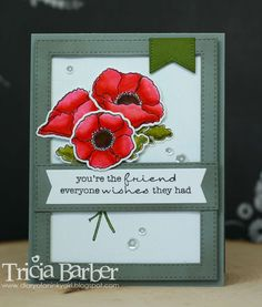 Diary of an Inky Girl…: My Favorite Things Weekly Sketch Challenge - Delicate Poppies
