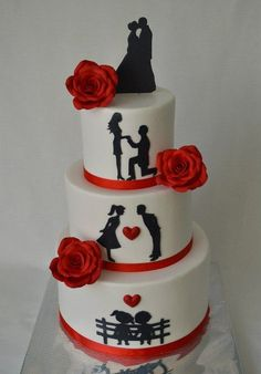 Bachelor Cake Designs Images for the Groom To Be. Buy Latest Best Bachelor Party Cake Ideas of Groom's Cake for Boys Men or Males. Beautiful Wedding Cakes, Beautiful Cakes, Amazing Cakes, Wedding Cake Decorations, Wedding Cake Designs, Fondant Cakes, Cupcake Cakes, Cake Icing, Cupcakes
