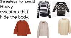 """Soft Natural (SN) - Sweaters to avoid"" by lightspring ❤ liked on Polyvore"