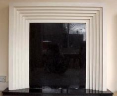 New Art Deco stepped plaster fire surround