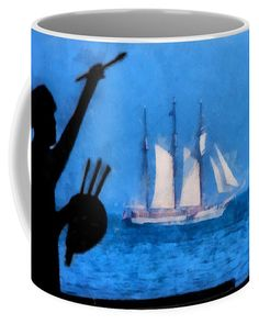 New Hampshire Coffee Mug featuring the photograph Painting A Picture Of Schooner Mystic by Jeff Folger Mugs For Sale, Hampshire, Mystic, Coffee Mugs, Photograph, Tapestry, Pictures, Painting, Decor
