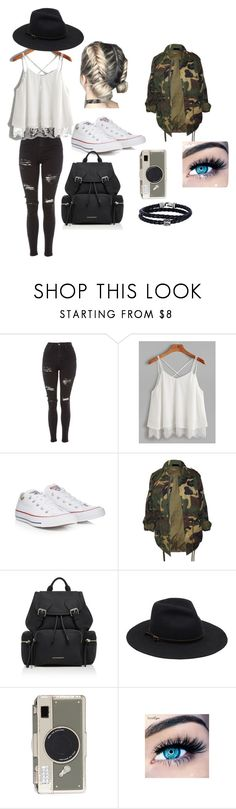 """""""not all black"""" by tilde-mathilde-kaufmann on Polyvore featuring Topshop, Converse, Burberry, Kate Spade, MINX and Phillip Gavriel"""
