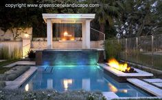 Every homeowner would dream to get a pool in their own house. Well, we are perfectly aware of the advantages one can get if there is a pool in the house. Aside from the additional visual appeal for the exterior,… Swimming Pool House, Swimming Pool Landscaping, Swimming Pool Designs, Swimming Pools, Lap Pools, Night Swimming, Yard Landscaping, Landscaping Ideas, Backyard Layout