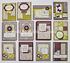 The best things in life are Pink.: Authentique's Remembrance 6x6 cards