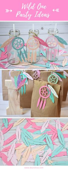 Planning a Wild One party for your little girl? This cut outs are great to be use for multiple purposes. For favor bags, bottles, centerpieces, garlands, etc. Let your imagination flow! This fun mix of colorful confetti could be the perfect way to dress up your table for a Tribal, Bohemian, Boho Chic, Aztec or a Pow Wow Party. Ideal for Baby Shower decor, Birthday party, dream catcher party, confetti, scrapbooking, card making, collages, Table decor, etc.