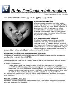 Baby Dedication Ceremony Examples | Baby Dedication Certificates