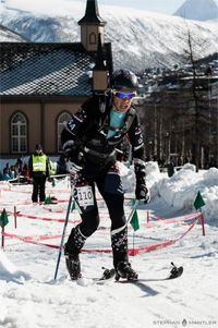 Nina Silitch - first North American to win a ski mountaineering World Cup race