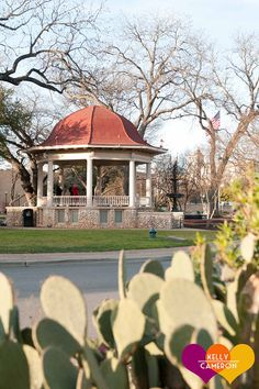 The gazebo in the center of New Braunfel's main street.  An excellent choice for a small wedding with a tight budget. http://elopetexas.com Elope, Texas   Your Elopement: Unique, Gorgeous, Perfect.