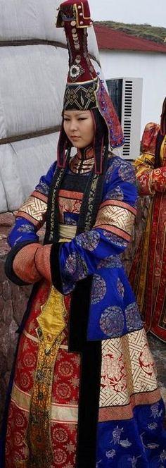 Tuvan girl in national costume
