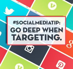 #SocialMediaTip  GO DEEP WHEN TARGETING  Targeting the right people is vital to serving them relevant content. #Marketing #SocialMedia #Tips  http://www.incitespreadsthelove.com