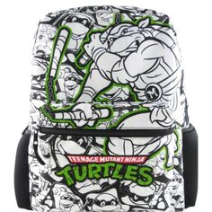 "License Teenage Mutant Ninja Turtles Backpack- White (16"")"