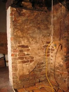 Vintage plaster wall - love this wall... would love to do this for an old Tuscan kitchen or outdoor patio area