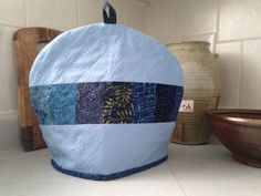 Hand Quilted Moody Blues Tea Pot Cozy - tea pot cover, tea lover gift, house warming, tea time, tea party, home decor by FiresideQuiltStudio on Etsy https://www.etsy.com/ca/listing/265352188/hand-quilted-moody-blues-tea-pot-cozy