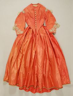 Dress (image 1) | American | 1864-65 | silk | Metropolitan Museum of Art | Accession Number: C.I.43.106.1a, b