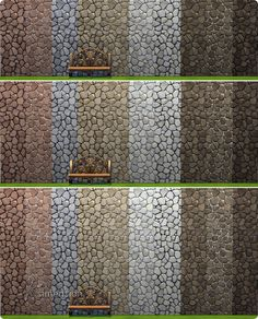 The Sims 4 | Maxis Match Rustic Stone Wall with 10 colors | build mode walls