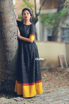 Kalamkari Blouse Designs, Cotton Saree Blouse Designs, Kalamkari Dresses, Bridal Blouse Designs, Churidar Designs, Long Frocks For Kids, Cotton Frocks For Kids, Cotton Long Dress, Long Gown Dress