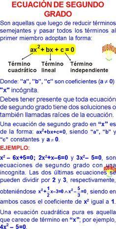 Algebra Rubiños Pdf Ecuaciones De Segundo Grado Ejercicios Resueltos P Cursos De Matematicas Blog De Matematicas Ecuaciones