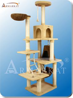 Armarkat Ultra-soft Faux Fleece Pressed Wood Diameter Post Cat Tree L x W x H - Goldenrod Cat Tree Condo, Cat Condo, Br House, Cat Towers, Cat Playground, So Creative, Match Making, Cat Furniture, Cool Pets