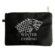 Men's Song Of Ice And Fire Game Of Thrones Targaryen Drago Hoodies Fashion Black Canvas Pouch Bag >>> See this great product.