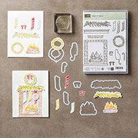 Festive Fireplace stamps & Festive Fireside thinlits bundle - stampin' Up