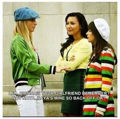 Naya Rivera & Heather Morris & Lea Michele #Rofl