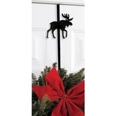 Wrought Iron Moose Wreath Hanger | Iron Wreath Hanger | Outdoor Decor