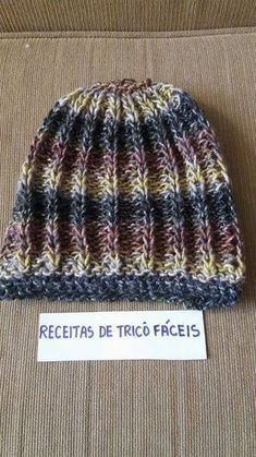 GORRO  FACIL  (  Claúdia Maria  ) - Lã  Mona  da  Cisne  agulha  n º 8 ,cor 00009 -Colocar 50 pontos na agulha nº 8 -...