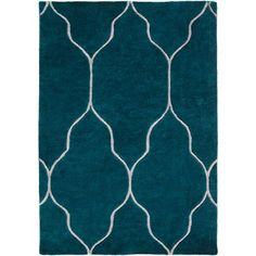Gates Teal and Light Gray Rectangular: 2 Ft x 3 Ft Rug