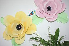 DIY tuto Fabriquer des fleurs en papier géantes !