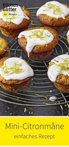 Einfaches Rezept für dänische Mini-Citronmåne. Sweet Bakery, Cupcakes, Cereal, Cooking, Breakfast, Mini, Food, Scandinavian Recipes, Danish Recipes