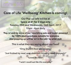 Core of Life Pop Up 'Wellbeing' Kitchen