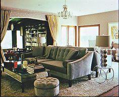 Home Interior Designer, Kari Whitman. Residential, Home and House Interior Designer Jessica Alba's living room