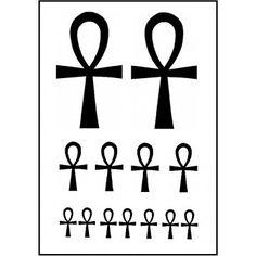 Tatouage temporaire croix égyptienne
