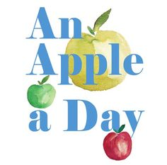 An Apple a Day Print  fun retro teacher by TheJoyofColor on Etsy, $21.00