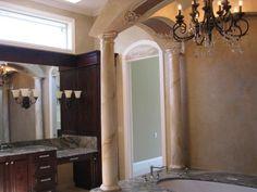 Master Bath created for designer Sharon Flatley. www.artisanfinishes.net