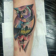 @littleandy owl tattoo