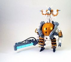 A warrior-priest of the Church of the Machine God, wearing a customized Grunt hardsuit and carrying an energy machete. _____ You all seemed to like my infantry version Grunt pretty well, so here's the next variant. Lego Bots, Lego Duplo, Lego Mechs, Lego Bionicle, Lego Super Mario, Lego Creator Sets, Lego Ship, Lego Craft, Lego System