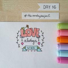 "#100daysofdooodles #the100dayproject #doodle #doodling #drawing #lettering #markers #copic #inspiration #instaart #art #love #lovealwayswins #рисунок #ярисую #леттеринг #маркеры #вдохновение #любовь ""Love always wins"" for #dndchallenge"