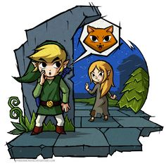 The Wind Waker: Meow by Purrdemonium.deviantart.com on @deviantART