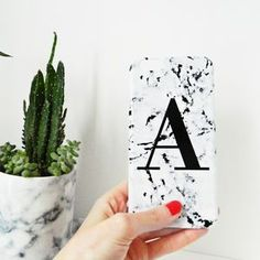 Personalised Marbled Single Letter Phone Case - Whether you're buying for a friend, your partner, your mother or your daughter, it's important to get her a gift that she'll really treasure.