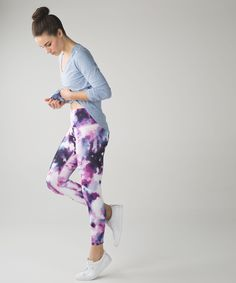 769bb8e8f28a57 Lululemon High Times Pant in Blooming Pixie Multi Barre Clothes, High  Times, Workout Attire