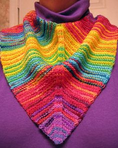 Festive Mitered Scarf free; with links to more mitered knitting patterns