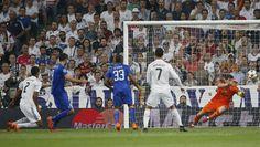 Momento do gol de Morata, que vai levando a Juventus para a final da Champions