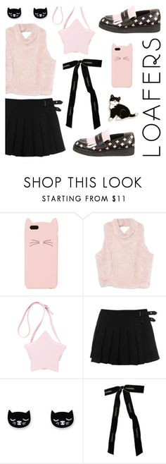 """Cute Loafers"" by deepwinter ❤ liked on Polyvore featuring Kate Spade, Chanel, Marni, cute, Pink, loafers, cats and kawaii"